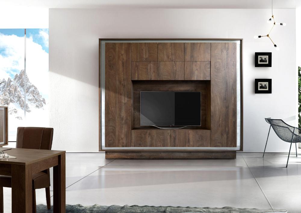 Banc Tv Moderne Rosine Matelpro En 2020 Modele Placard Design De Salle Multimedia Mobilier De Salon