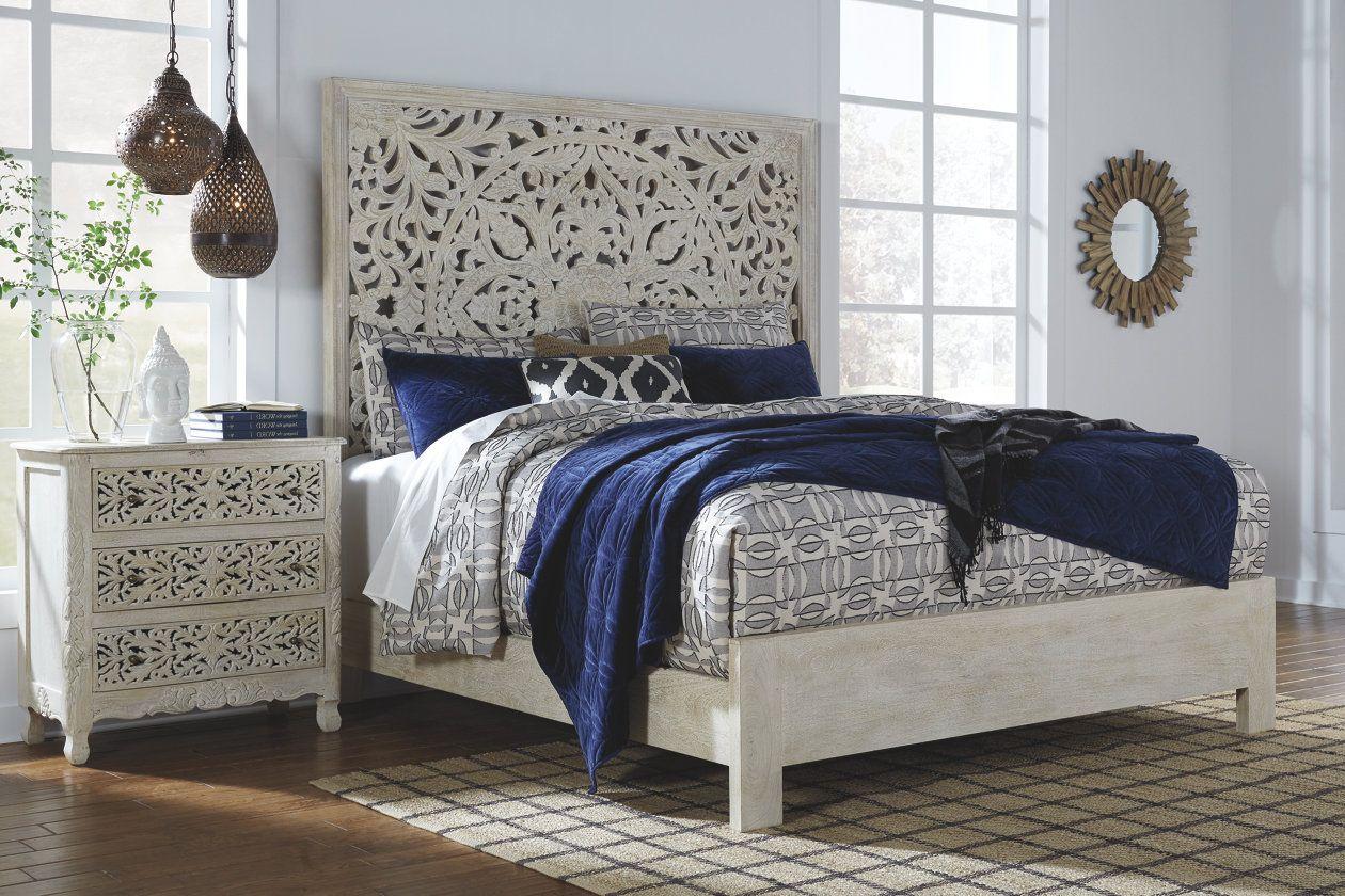 bantori queen panel bed  discount bedroom furniture