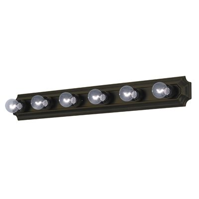 Project source 6 light 453 in bronze rectangle standard vanity project source 6 light 453 in bronze rectangle standard vanity light bar aloadofball Gallery