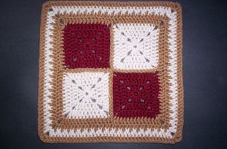 "Simple Four-Patch - 12"" ~ free pattern ᛡ"