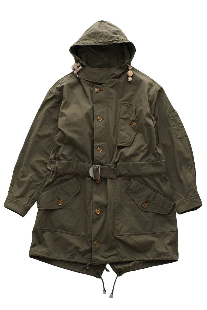 3b4644bbaddbf0 Nigel Cabourn - COLD WEATHER PARKA HALFTEX - DARK OLIVE