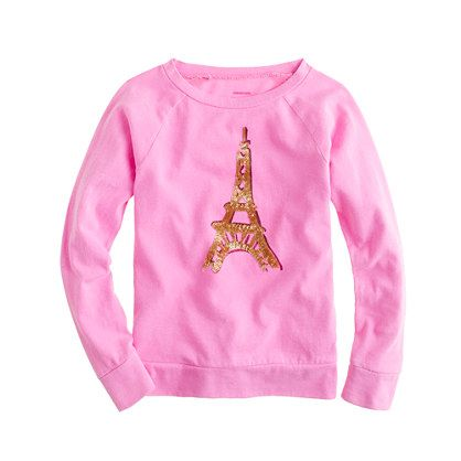d8b70dcc Girls' long-sleeve Eiffel Tower tee - collectible tees - Girl's Shop By  Category - J.Crew