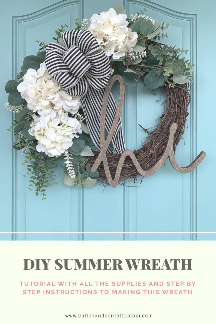 Photo of Summer front door wreath DIY