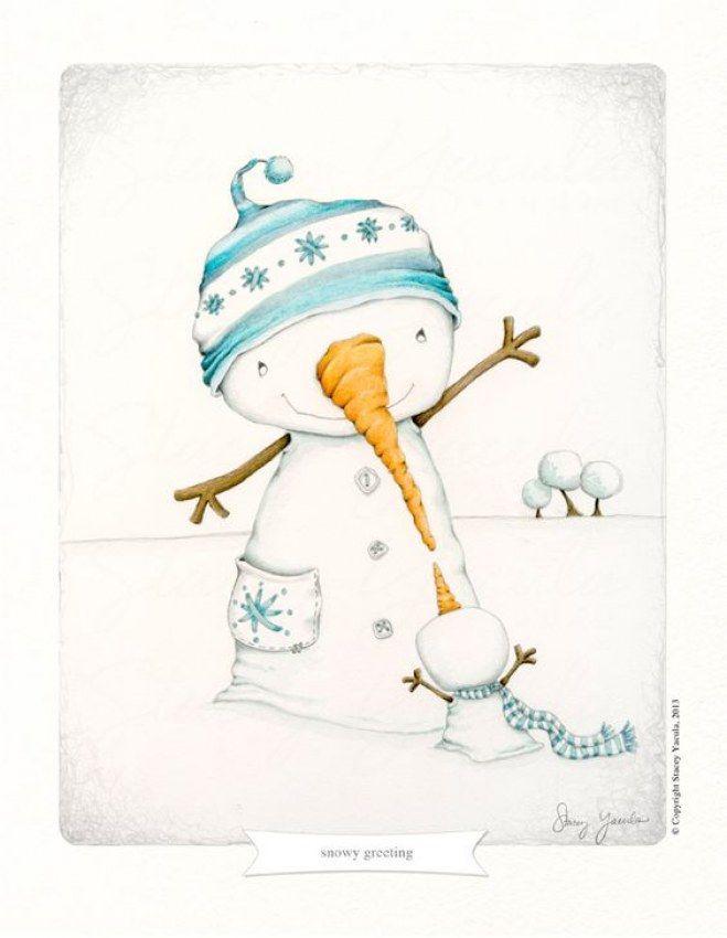 50 Imagenes De Navidad Que Te Dibujaran Una Sonrisa Al Instante - Dibujos-originales-de-navidad