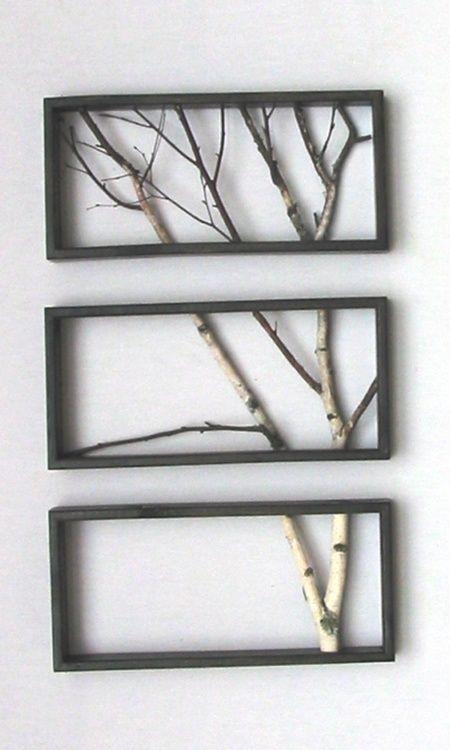 marcos fabricados con madera de pallets y ramas secas!! | ideas ...