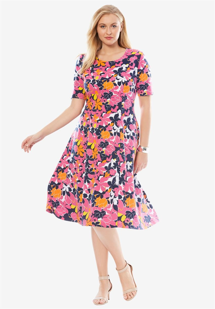 Park Art|My WordPress Blog_Scoop Neck Dress Plus Size