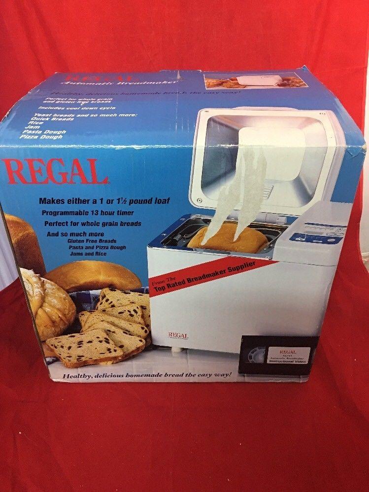 regal automatic bread maker model k6751 new ebay bread maker rh pinterest com Regal Kitchen Pro Bread Maker Regal Bread Maker Manual