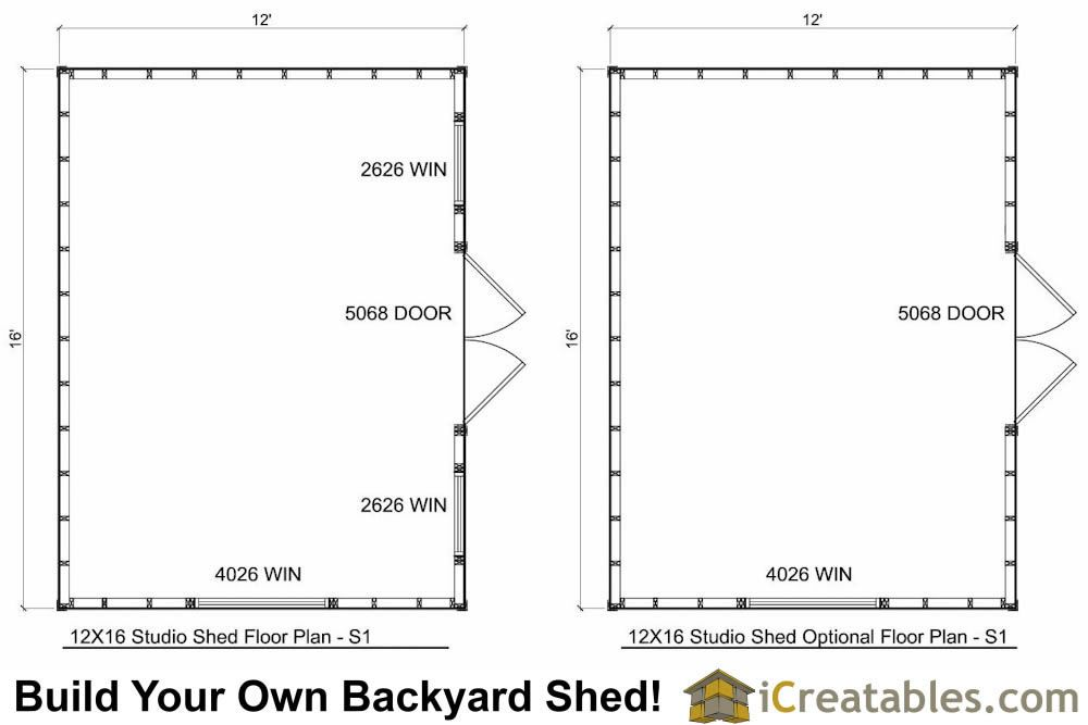 12x16 Office Shed Plans Floor Plan Shed Plans Shed Plans 12x16 Shed Floor Plans