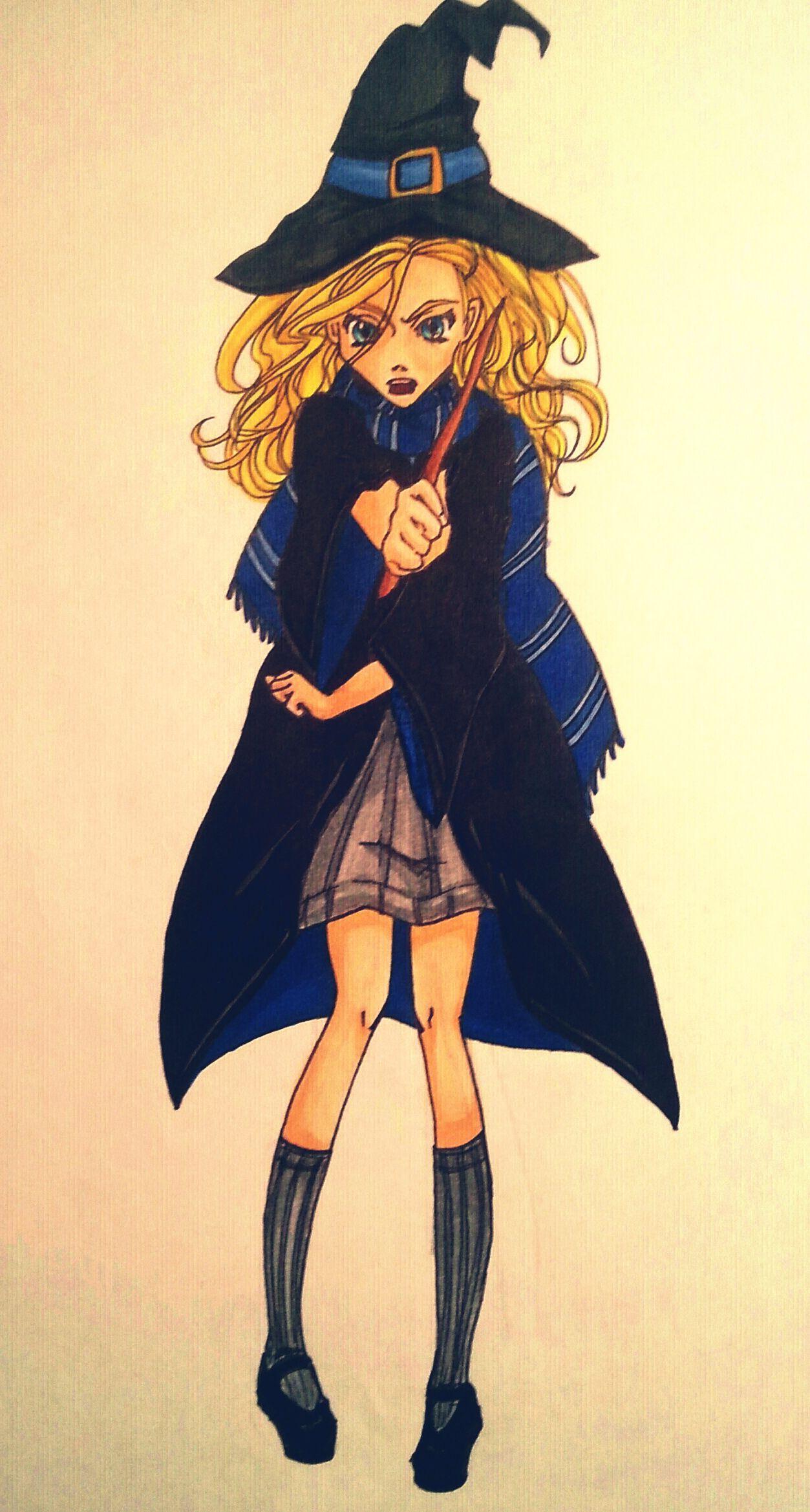Fertige Zeichnung von meiner Ravenclaw Hexe, Anna ...