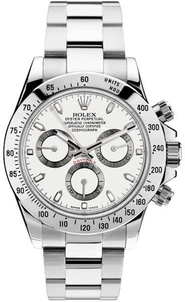 4a2e766d03bc1 Rolex Pre Owned Steel Daytona 116520 White Watch