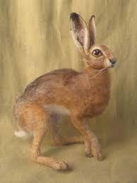 Image result for sarafinafiberart hare eyes