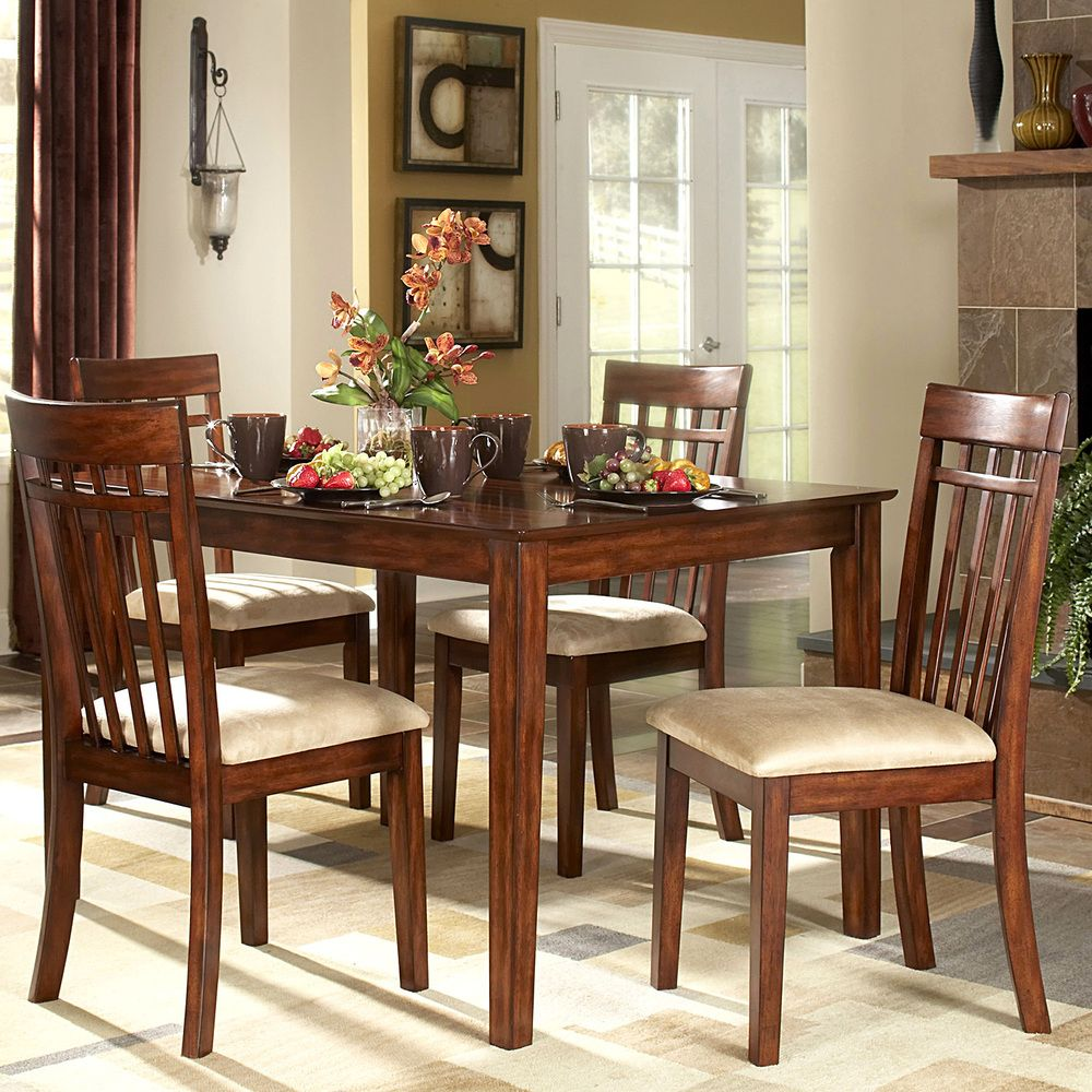 TRIBECCA HOME Daphne Burnished Cherry 5 Piece Mission Casual Dining Set |  Overstock™ Shopping