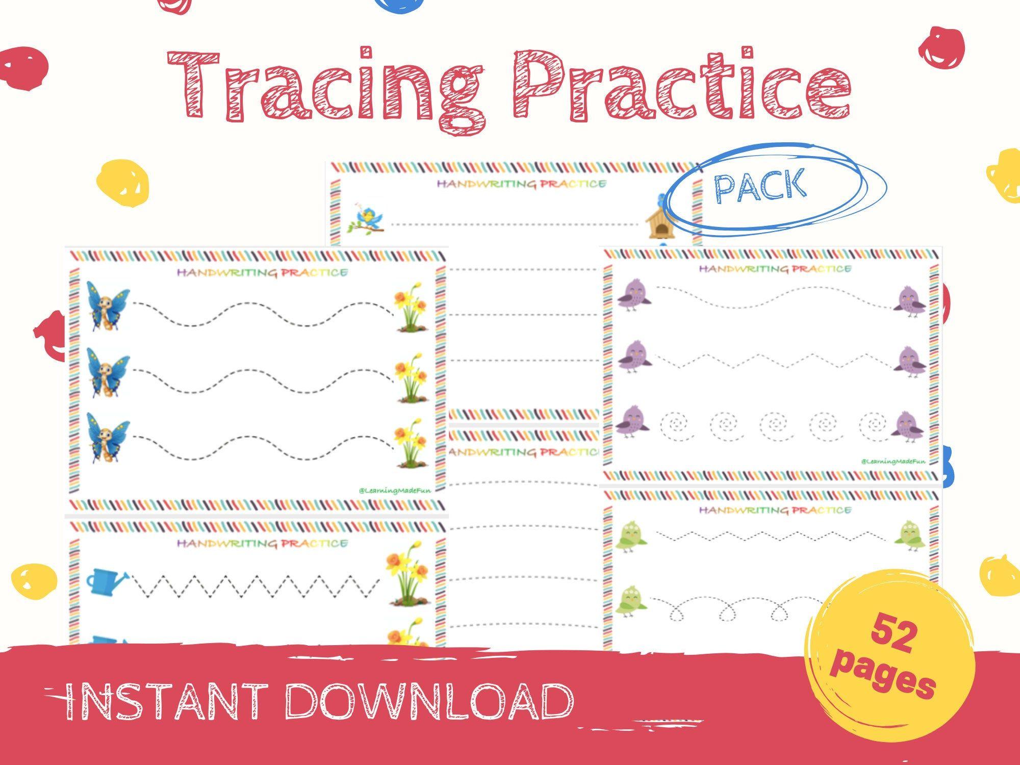 Tracing Practice Tracing Worksheets Preschool Worksheets