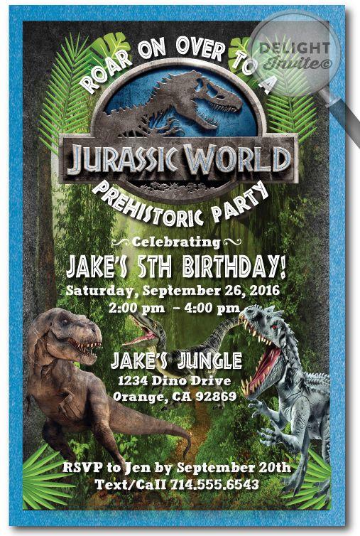 Jurassic World Birthday Invitations Click Image To Close