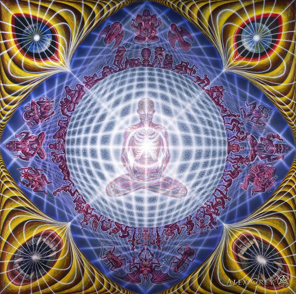 Deities And Demons Drinking From The Milky Pool Alex Grey