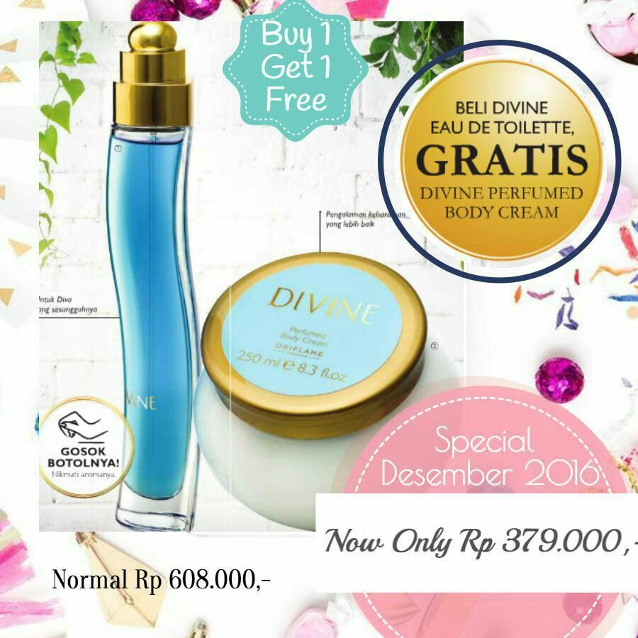 Divine Edt Gratis Perfumed Body Cream Parfum Oriflame