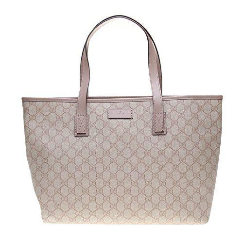 Gucci Supreme Canvas and Leather Zip Top Handle Bag Shoulder Tote Handbag