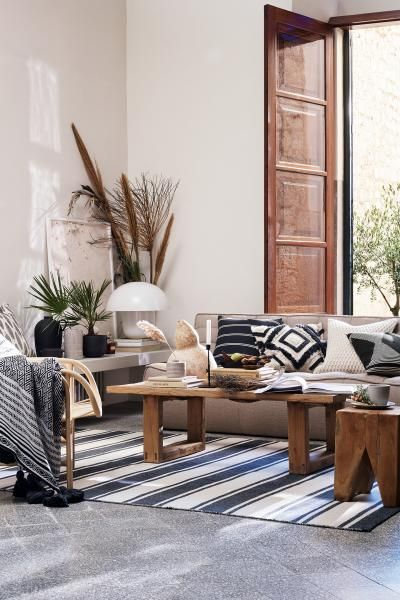 patterned  Home All   H&M US is part of Living room designs - CONSCIOUS  Cushion cover in woven organic cotton fabric with a printed pattern  Concealed zip
