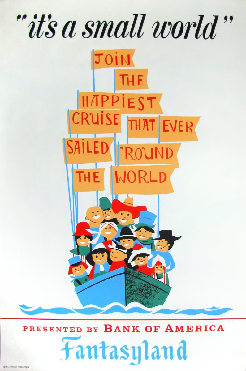 disney small world images poster art of the disney parks itu0027s a small world