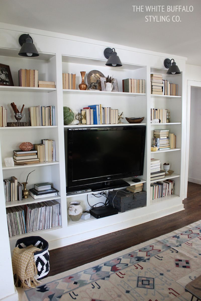 winning built ins for living room. fall built in styling  wanting some bookcases Finding Fall Home Tour Neutral and Natural Light building