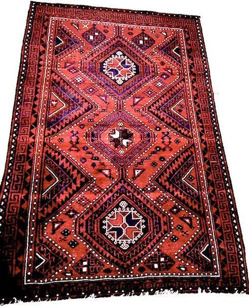 Vintage Shiraz Tribal Geometric Oriental Rug 5 7 X 8 6 Feet Sold For 240