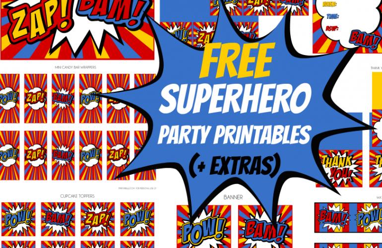 Free Superhero Party Printables + Extras!