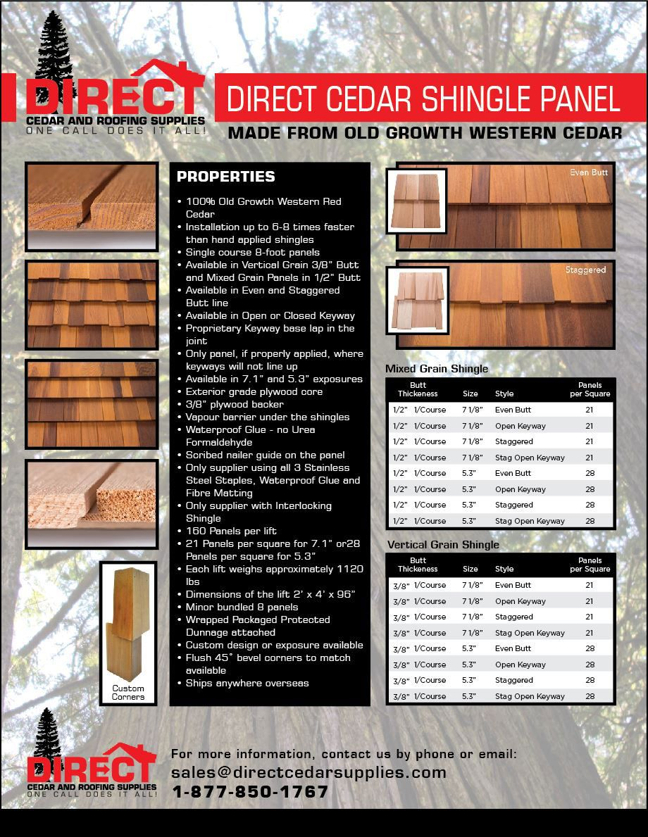 Best High Quality And Strong Cedar Shingle Panels At Wholesale 400 x 300