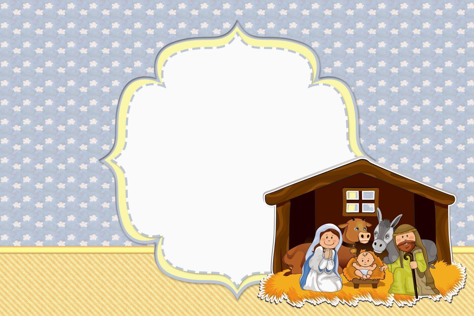 Sweet Nativity Scene Free Party Printables. Enfeites de