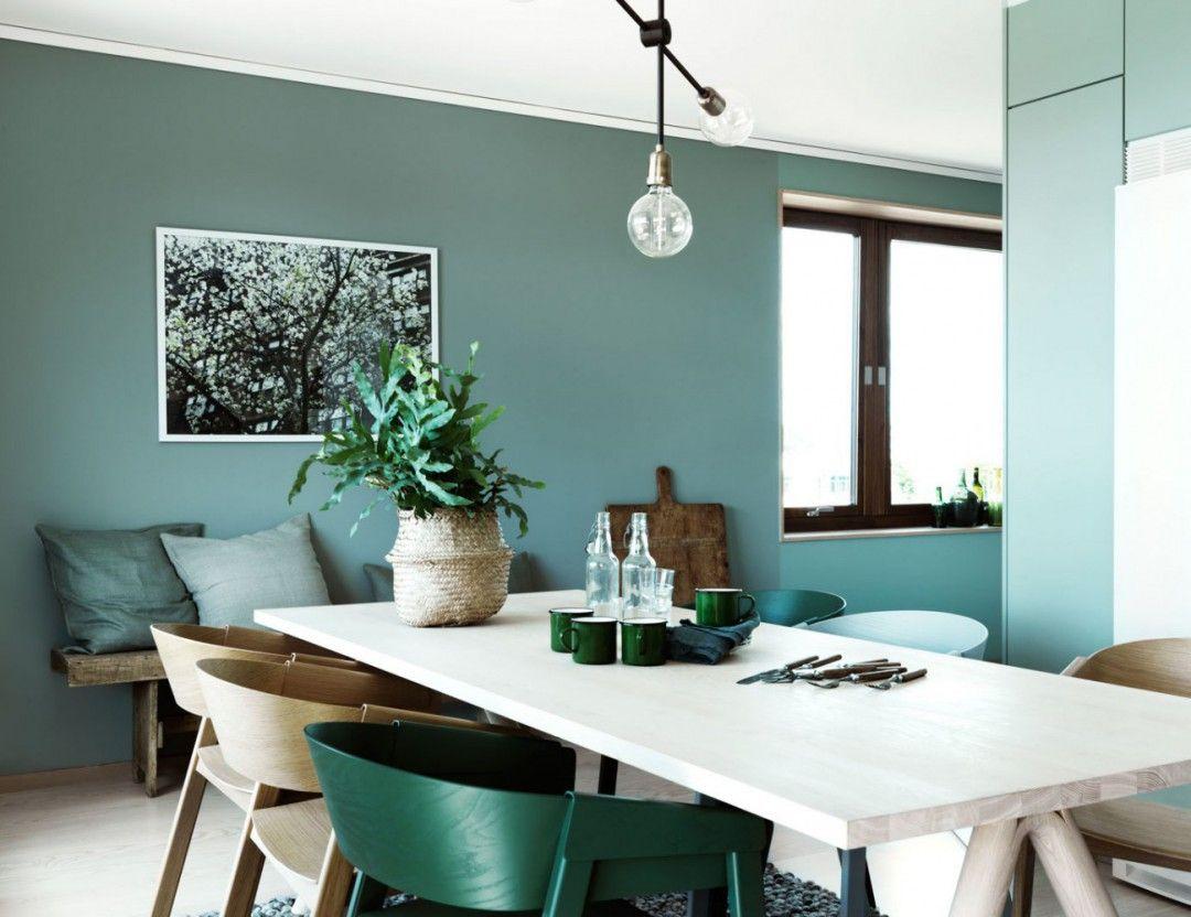 Green attitude un int rieur nordique inspirant for Salle a manger vert