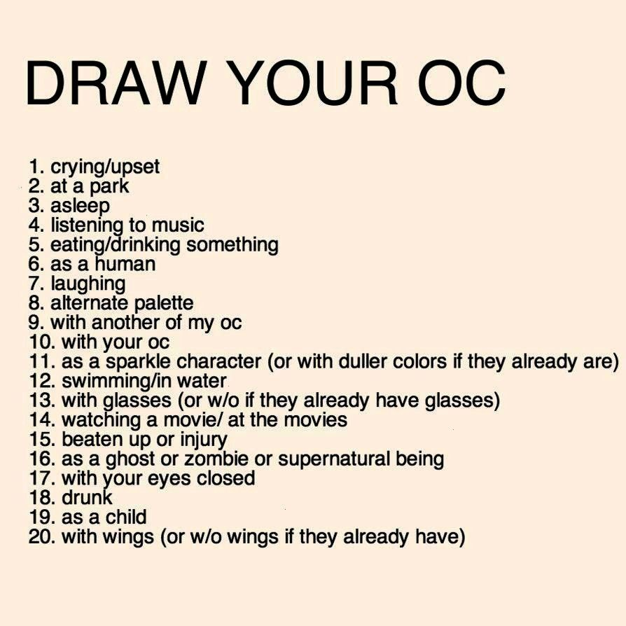 have any OC's yet so I want you to choose first ... Then I'll make my own - -I don't have any OC's