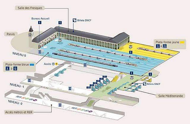 Carte gare de lyon maps pinterest gare de lyon lyon for Plan interieur gare montparnasse
