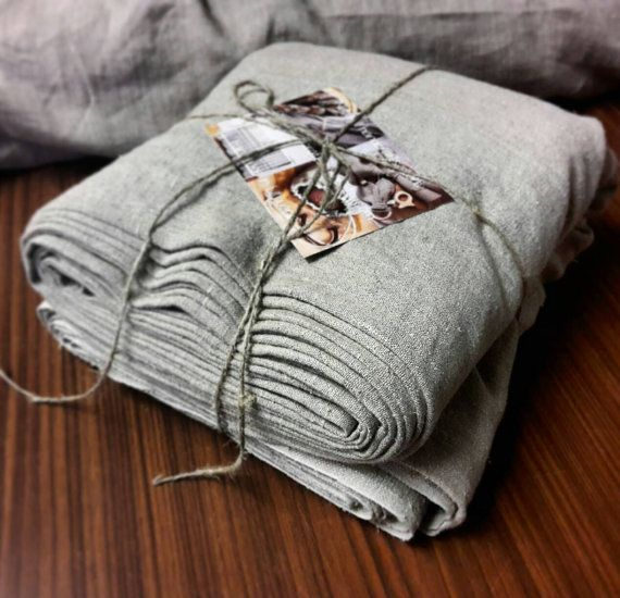 Rough linen fabric by the meter, stonewashed linen fabric