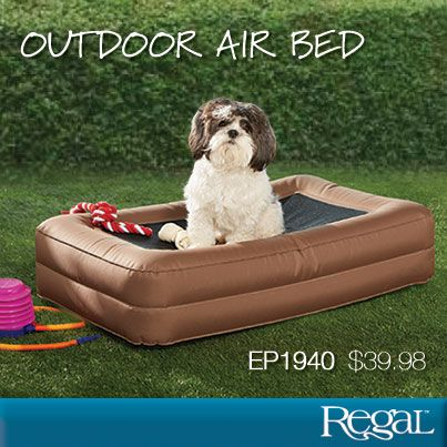outdoor air bed from regal gifts keep your pooch cool and comfortable this summer just