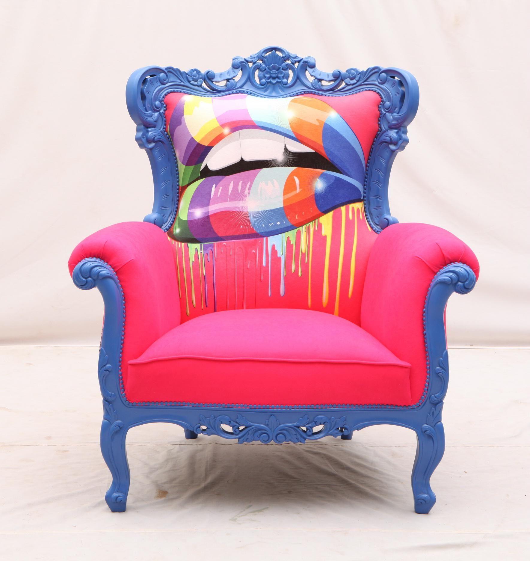 Fauteuil Baroque Relook 233 Graffiti Furniture Furniture