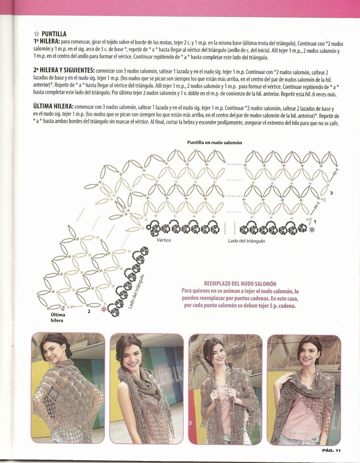 Patrones Crochet | Chal | Pinterest | Patrones crochet gratis ...