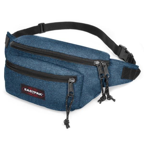 Waist bag double denim Eastpak Doggy bag. Shop now from samdamretail.be: http://samdamretail.be/en/waist-bag-double-denim-eastpak-doggy-bag.html #waistbags #fannybags #hippack
