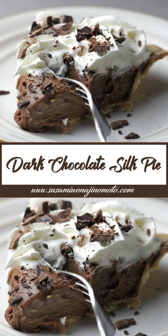 Dark Chocolate Silk Pie! Its Delectable!