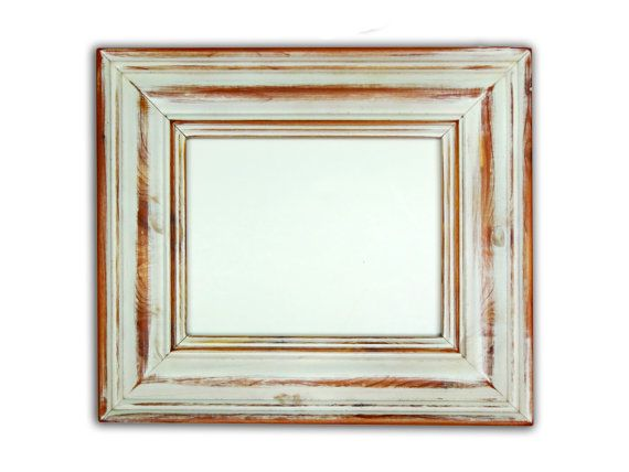 rustic old antique 12 x 24 distressed whitewhitewash picture frame handmade wood picture frame custom framing