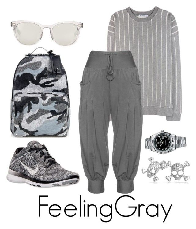 """""""PrepSCool"""" by ckk90210 ❤ liked on Polyvore featuring Valentino, NIKE, T By Alexander Wang, Dolce&Gabbana, Isolde Roth, Bling Jewelry, Rolex, BackToSchool and polyvoreeditorial"""