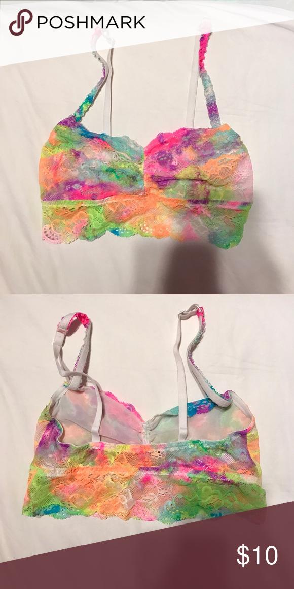 PINK Victoria's Secret bralette PINK Victoria's Secret tie dye rainbow bralette. PINK Victoria's Secret Intimates & Sleepwear Bras
