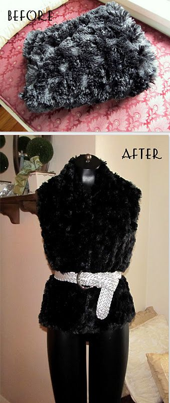 WobiSobi: Project Re-Style # 50, Faux-Fur Vest.
