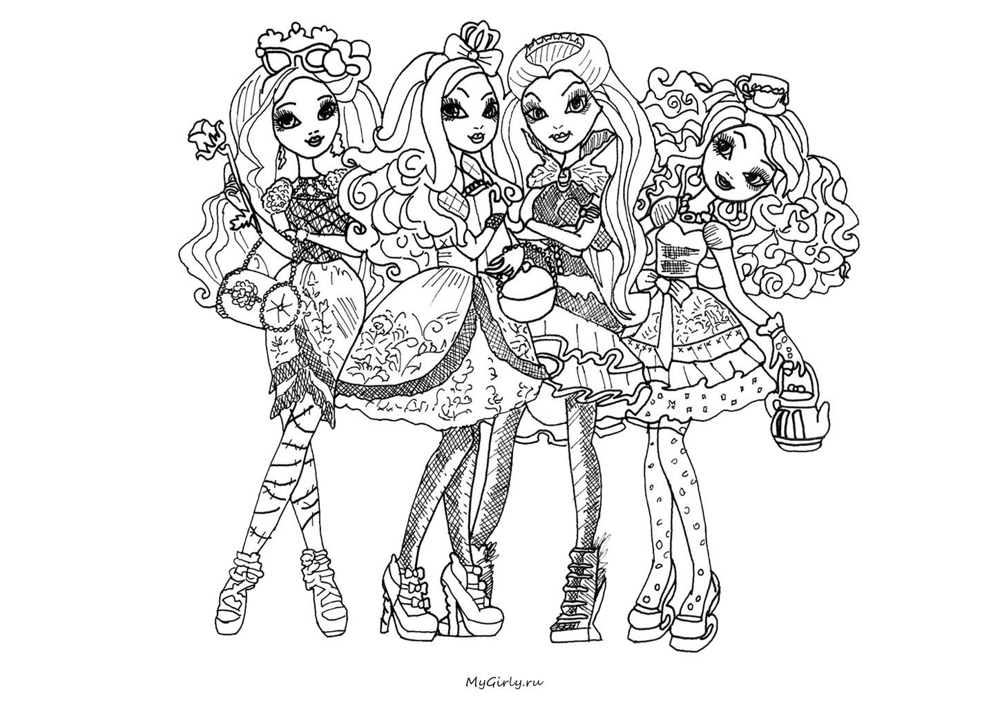 Ever After High Coloring Pages Apple White : Images for gt ever after high coloring pages to print apple