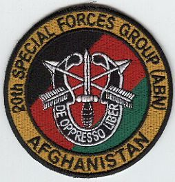 20th Special Forces Group Pocket Patches Group Patch, Afghanistan Service