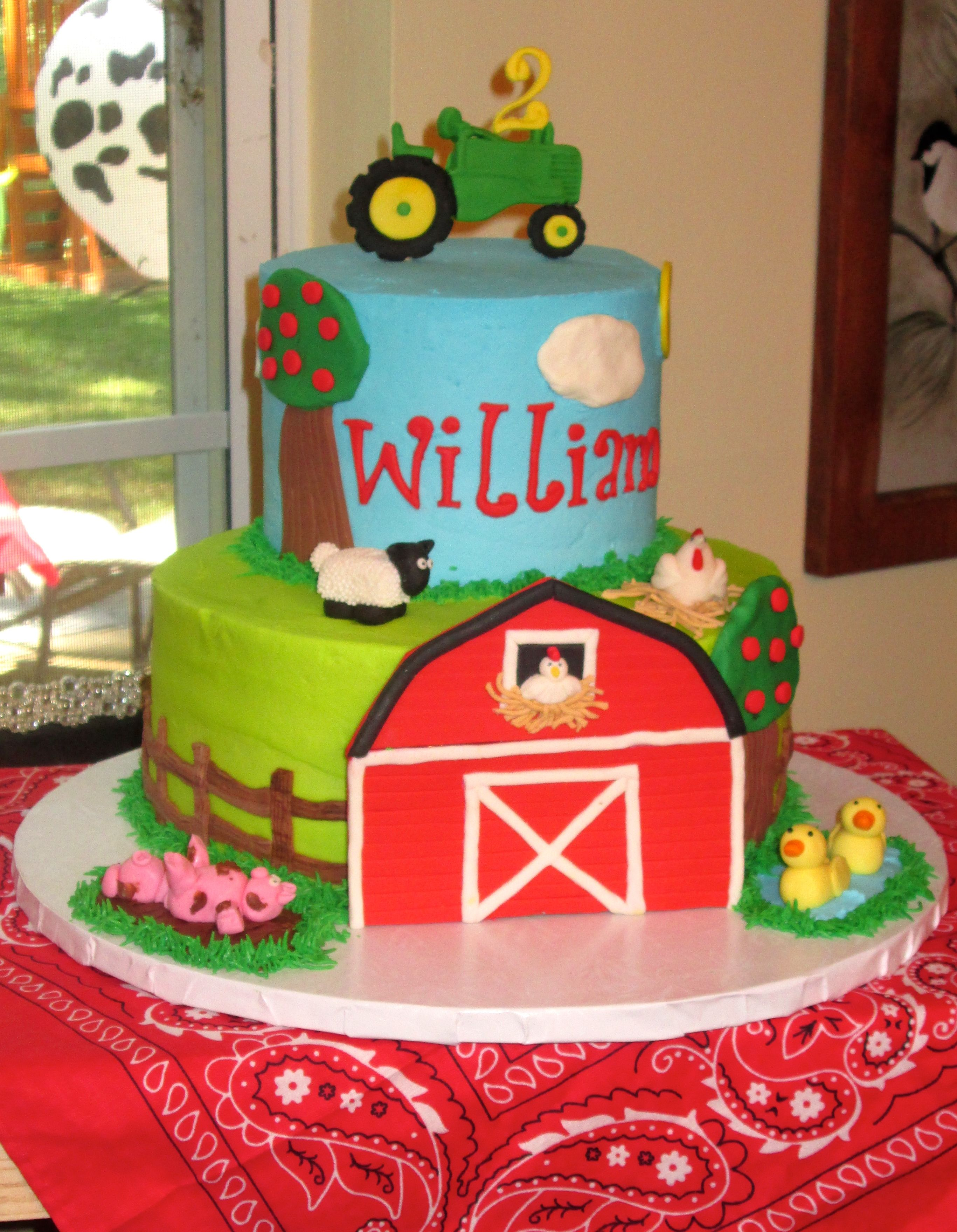 Groovy Farm Themed Birthday Cake By Sandys Sweets Farm Birthday Cakes Funny Birthday Cards Online Sheoxdamsfinfo