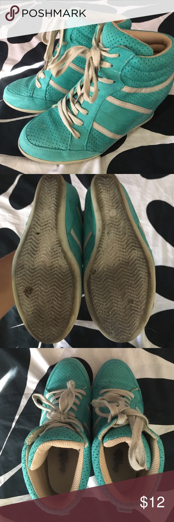 Charlotte Russe Sneaker Wedges Charlotte Russe, sneaker wedges! Used, but in great condition. Charlotte Russe Shoes Sneakers