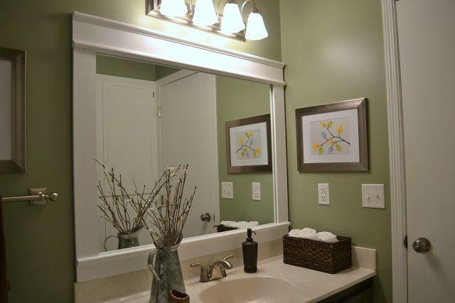 25 beste idee n over badkamer spiegel lijsten op pinterest - Barok spiegel voor badkamers ...