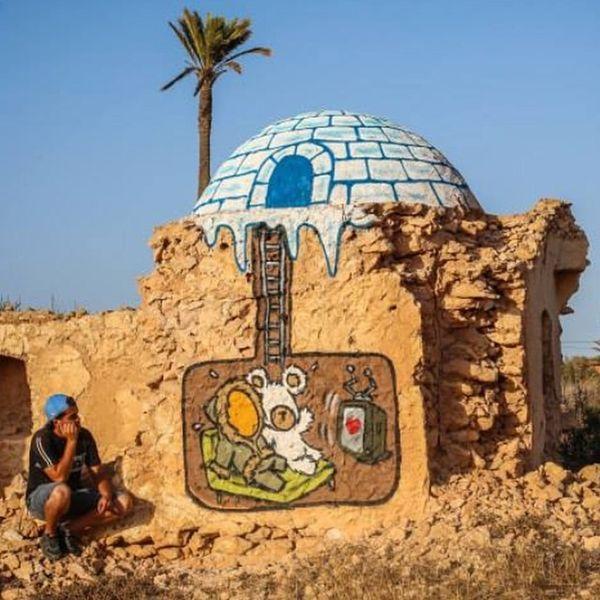 Ilha da Tunísia abriga a maior exposição Street Art do mundo