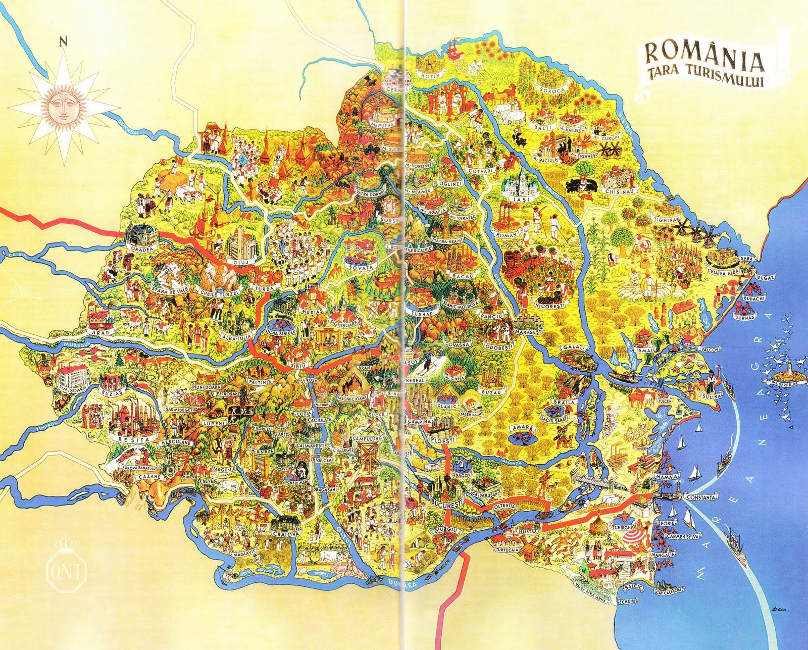 Imagini Pentru Harta Turistica Romania Hartă