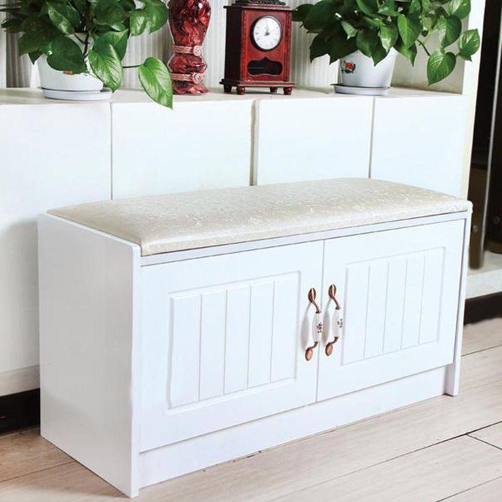 Wooden Shoe Storage Cabinet Closet Cupboard Rack Organiser + Bench Seat Hallway