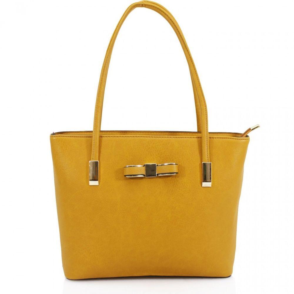 ... pretty nice f391f e30bb Women Dark Grey Bow Design Shoulder Handbag  Tote Bag Purse Ladies Messenger 317978908e82b